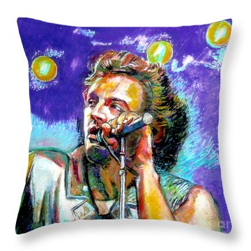 Bruce Springsteen Throw Pillow by Stan Esson