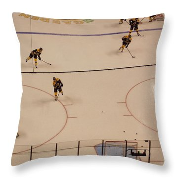 Bruins Pregame Warmup Throw Pillow
