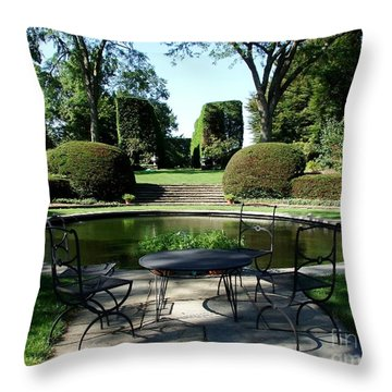 Brunch At Wethersfield Throw Pillow