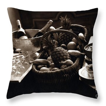 Brunch In The Loire Valley Throw Pillow