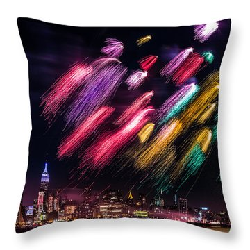 Throw Pillow featuring the photograph Brushes by Mihai Andritoiu
