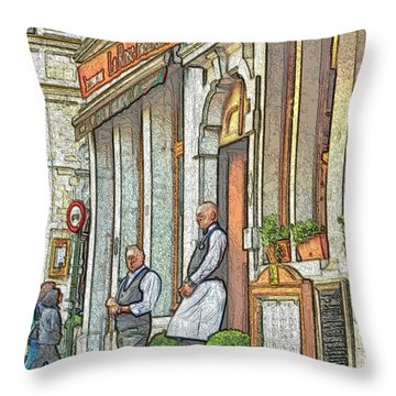 Throw Pillow featuring the photograph Brussels Grand Place 1 by Steven Richman