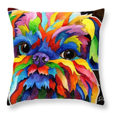 Brussels Griffon Throw Pillow by Sherry Shipley