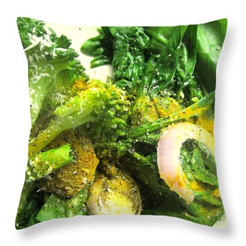 Brussels Sprouts And Turmeric Throw Pillow