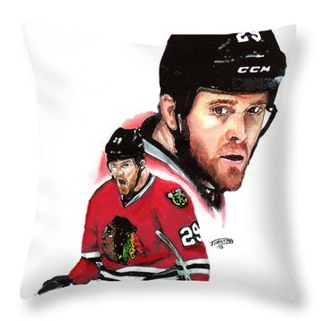 Bryan Bickell Throw Pillow by Jerry Tibstra