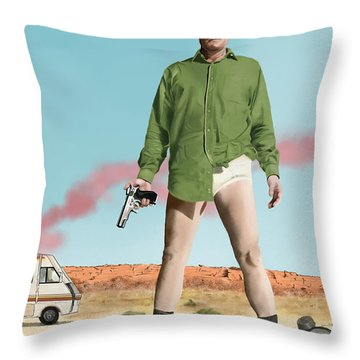 Bryan Cranston As Walter White  @ Tv Serie Breaking Bad Throw Pillow