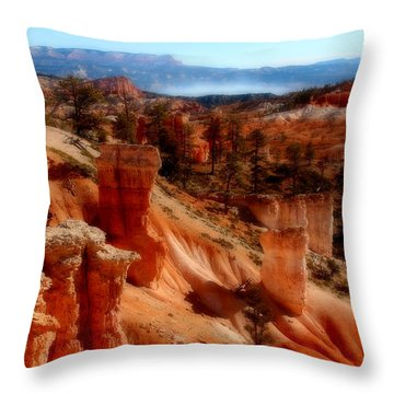 Bryce Canyon Cliff Throw Pillow by Marti Green