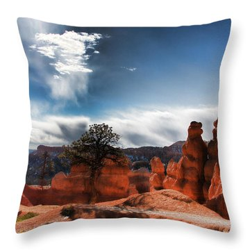 Bryce Canyon Drama Throw Pillow by Marti Green
