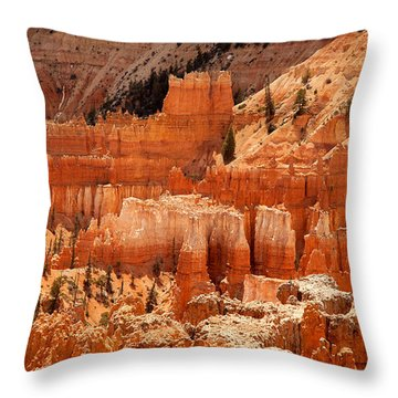 Bryce Canyon Landscape Throw Pillow by Jane Rix