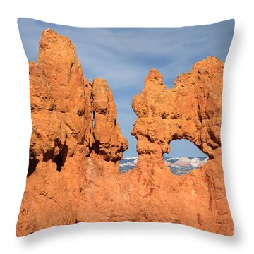 Throw Pillow featuring the photograph Bryce Canyon Peephole by Karen Lee Ensley