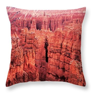 Bryce Canyon Red Throw Pillow