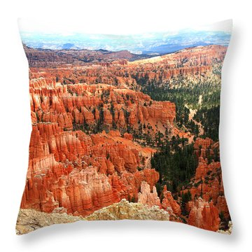 Bryce Canyon Utah Throw Pillow by Pattie Calfy