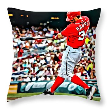 Bryce Harper Painting Throw Pillow