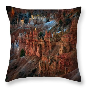 Bryce Point Bryce Canyon Utah Throw Pillow by Gary Warnimont