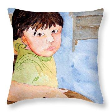 Bubba At School Throw Pillow