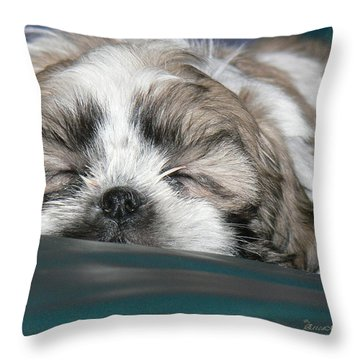 Throw Pillow featuring the photograph Bubba by EricaMaxine  Price