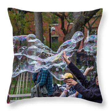 Bubble Attack Throw Pillow