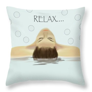 Bubble Bath Luxury Throw Pillow