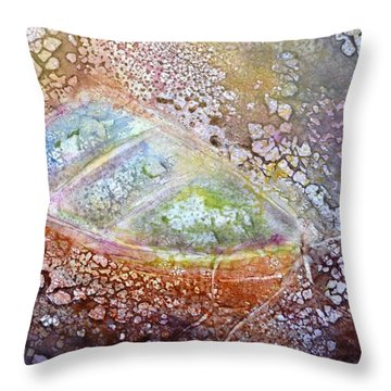 Bubble Boat Throw Pillow by Kathleen Pio