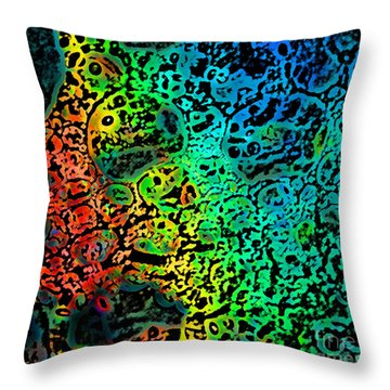 Throw Pillow featuring the photograph Bubble Design by Jeanette French