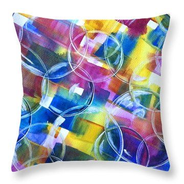 Bubble Fun Throw Pillow