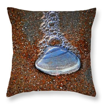 Bubble Shell Throw Pillow