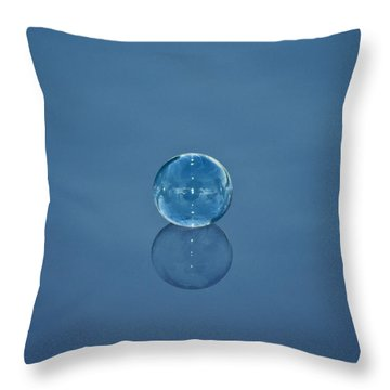 Bubble Study 1 Throw Pillow by Michael White