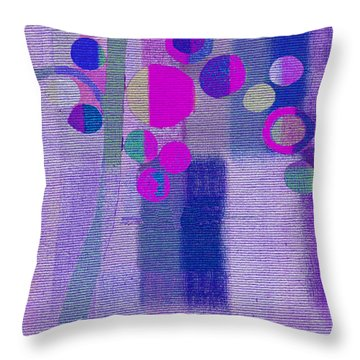 Bubble Tree - S85lc03 Throw Pillow by Variance Collections