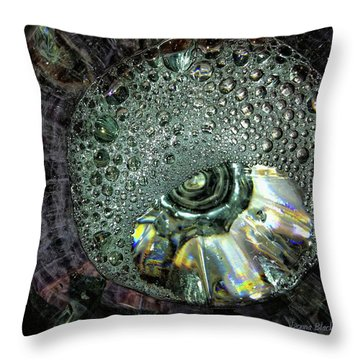 Bubble Trouble Throw Pillow by Donna Blackhall