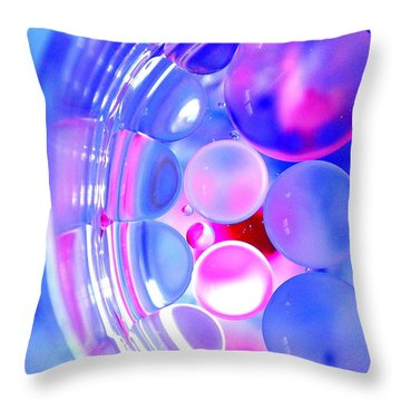 Bubblegum Bubbles Throw Pillow by Christine Ricker Brandt