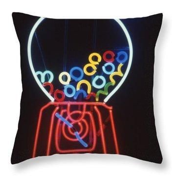Bubblegum Machine Throw Pillow by Pacifico Palumbo