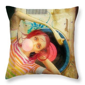 Bubblegum Pop Throw Pillow by Aimee Stewart