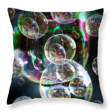 Bubbles And More Bubbles Throw Pillow