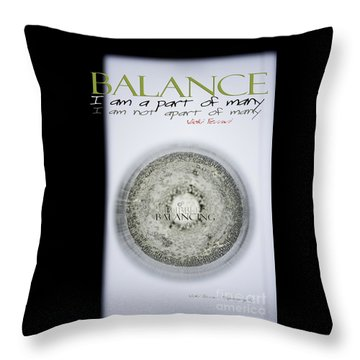 Bubbles Balance Bubbles Throw Pillow