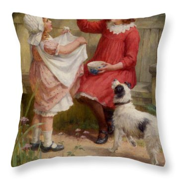 Bubbles Throw Pillow by George Sheridan Knowles