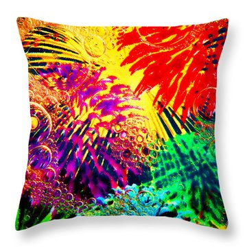 Throw Pillow featuring the photograph Bubbles by Geraldine DeBoer