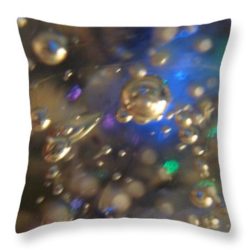 Bubbles Glass With Light Throw Pillow