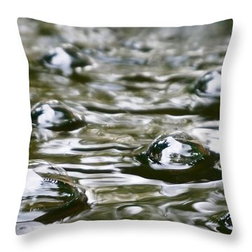 Bubbles Throw Pillow by Julia Ivanovna Willhite