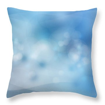 Bubbles Throw Pillow by Les Cunliffe