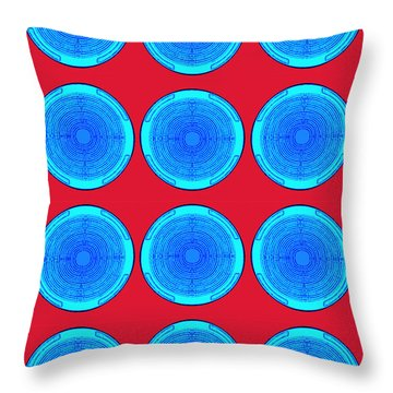 Bubbles Minty Blue Poster Throw Pillow