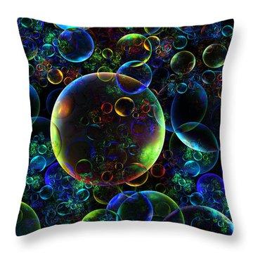 Bubbles Orgy 2 Throw Pillow