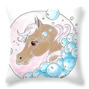 Bubbles Profile Throw Pillow