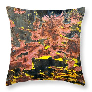 Throw Pillow featuring the photograph Bubbling Cauldron Abstract Square by Lee Craig