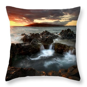 Bubbling Cauldron Throw Pillow by Mike  Dawson
