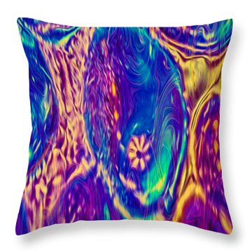 Bubbling Fantasies Throw Pillow by Omaste Witkowski