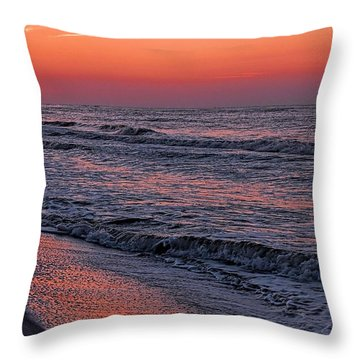 Throw Pillow featuring the digital art Bubbling Surf by Michael Thomas