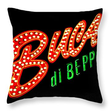 Buca Di Beppo Kcmo Throw Pillow