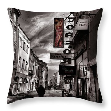 Bucharest Street Throw Pillow