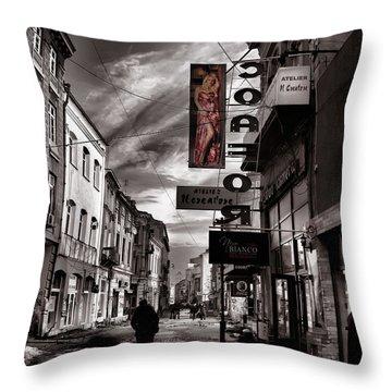 Bucharest Street Throw Pillow