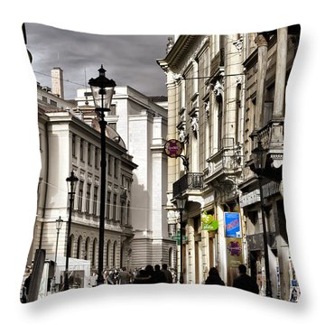 Bucharest The Little Paris Throw Pillow
